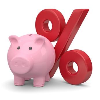 Sparschwein Prozentsymbol